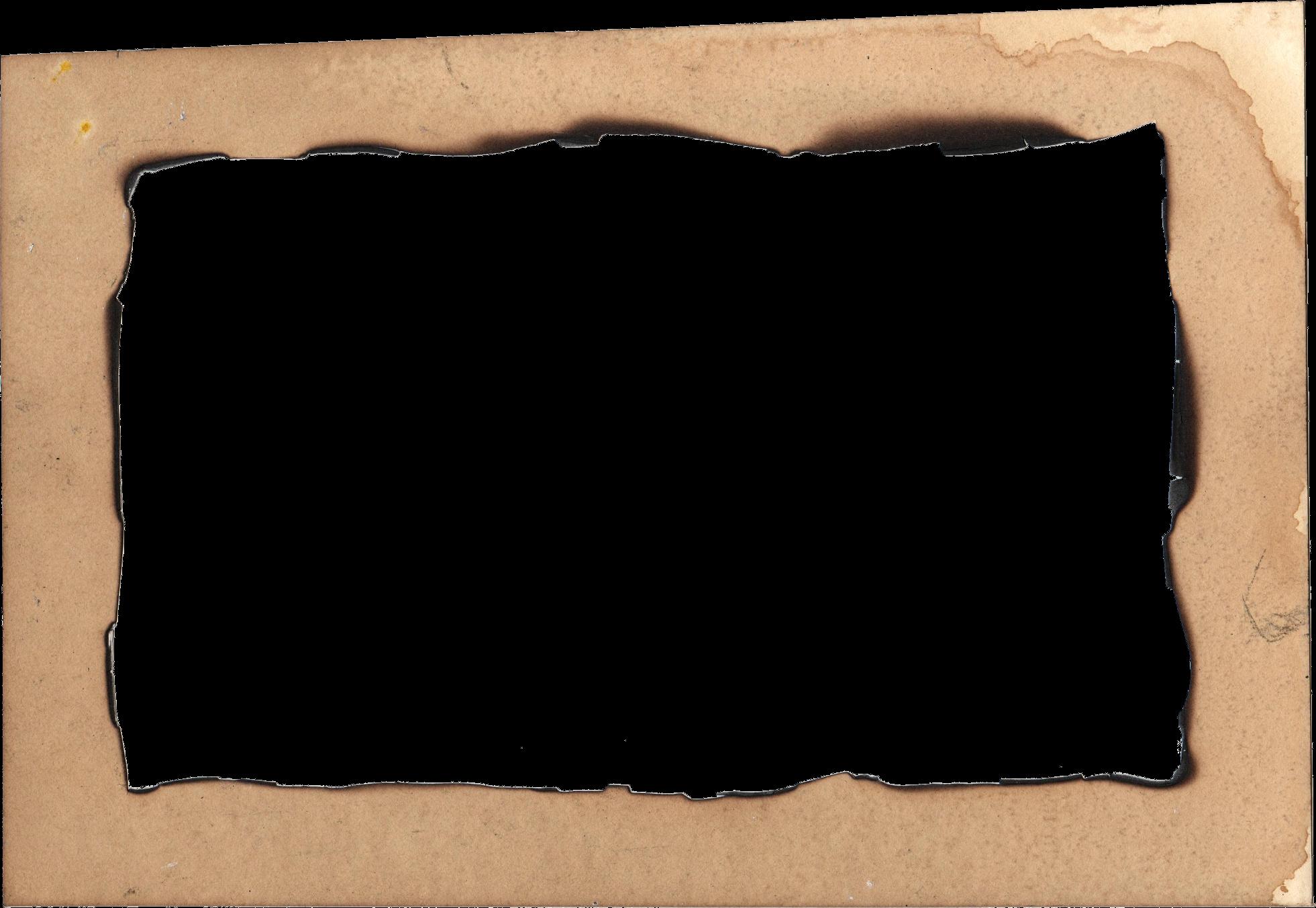 4 Burn Old Paper Frame Png Transparent Onlygfx Com