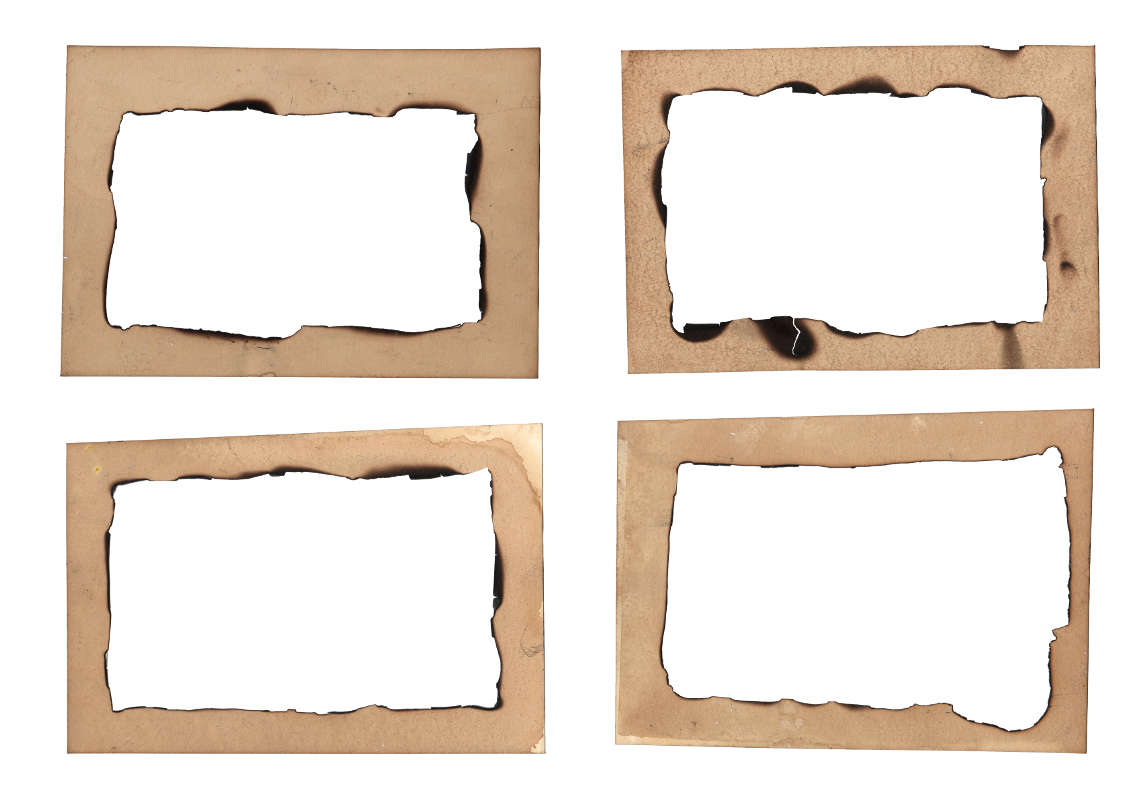 4 Burn Old Paper Frame (PNG Transparent) | OnlyGFX com