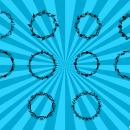 10 Circle Floral Frame Vector (PNG Transparent, SVG)