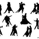 10 Couple Dancing Silhouette (PNG Transparent)
