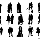 15 Couple Silhouette (PNG Transparent)