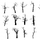 17 Dead Tree Silhouette (PNG Transparent)