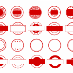 20 Red Empty Stamp Vector (PNG Transparent, SVG)