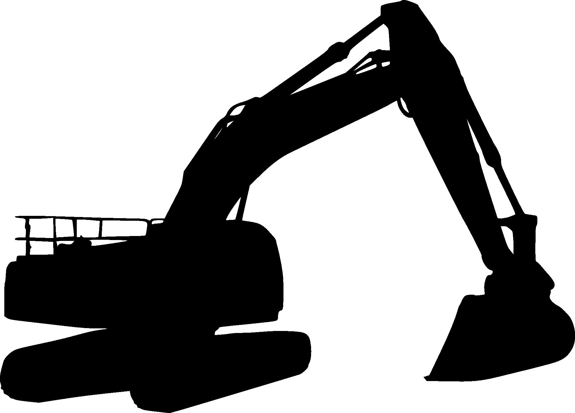 5 Excavator Silhouette (PNG Transparent)   OnlyGFX.com