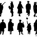 10 Graduation Silhouette (PNG Transparent)