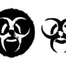 Grunge Biohazard Symbol (PNG Transparent)