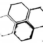 4 Grunge Hexagon Frame (PNG Transparent)