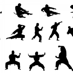 14 Karate Silhouette (PNG Transparent)