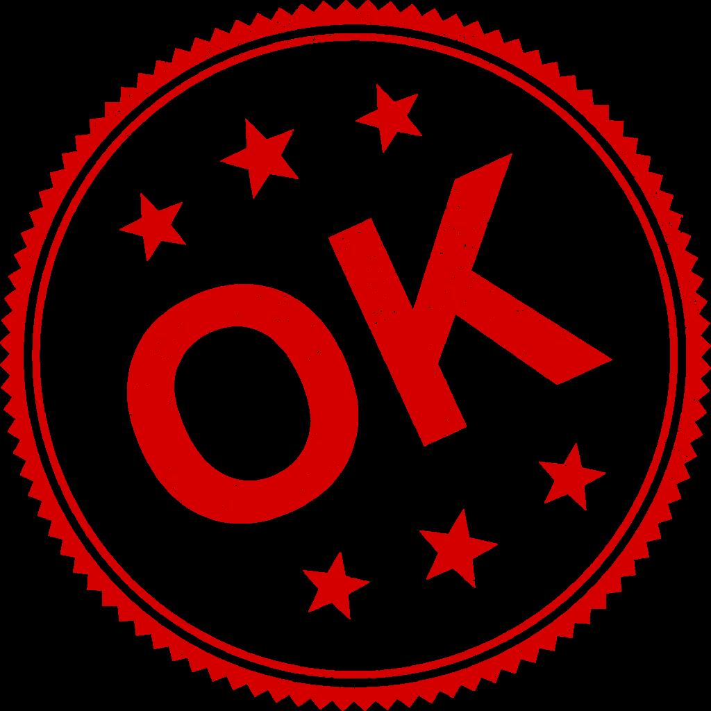 4 OK Stamp Vector (PNG Transparent, SVG) | OnlyGFX.com