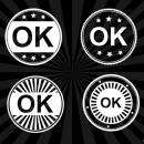 4 OK Stamp Vector (PNG Transparent, SVG)