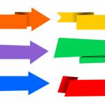 6 Origami Banner Arrow Vector (PNG Transparent, SVG)