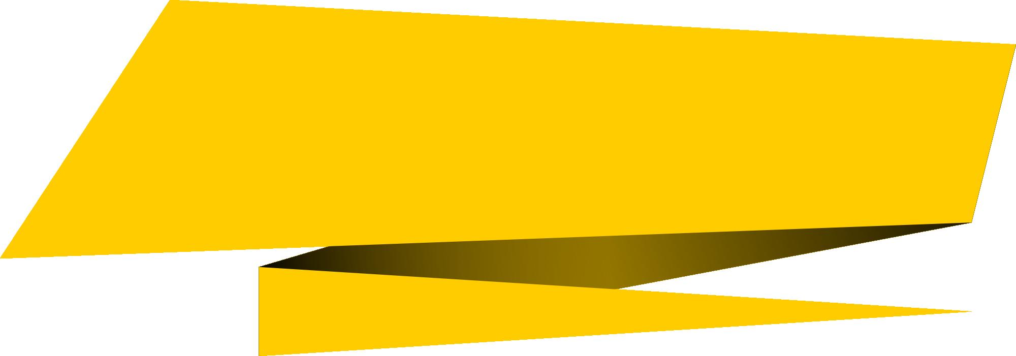 6 Origami Banner Rectangle Vector (PNG Transparent, SVG