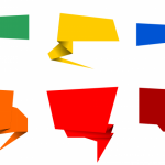 6 Origami Speech Bubble Banner Vector (PNG Transparent, SVG)