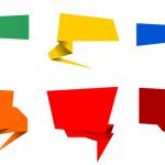 6 Origami Speech Bubble Banner Vector (PNG Transparent, SVG)