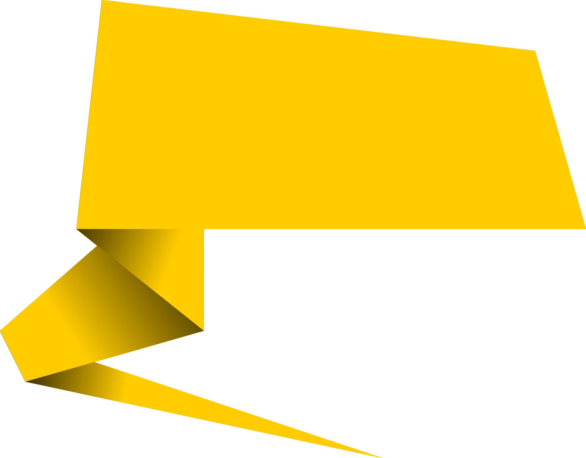 6 Origami Speech Bubble Banner Vector (PNG Transparent