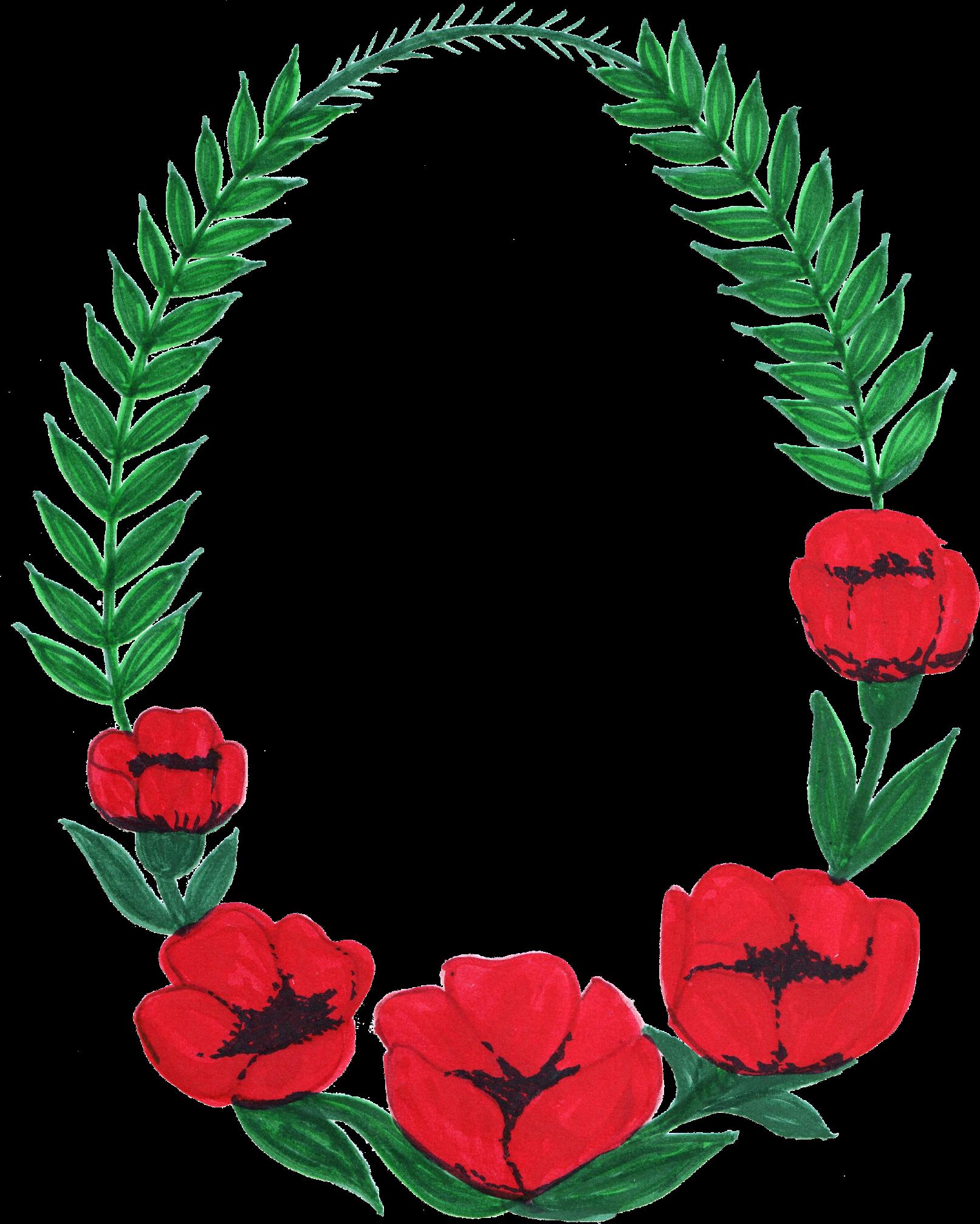 10 Oval Flower Frame Png Transparent Onlygfx Com