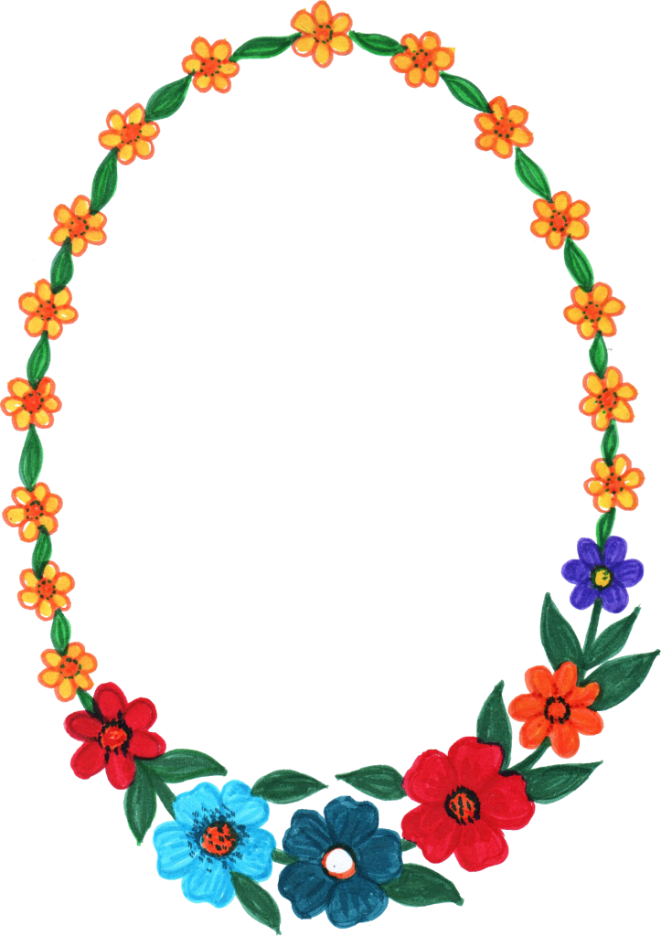 10 Oval Flower Frame (PNG Transparent) | OnlyGFX.com