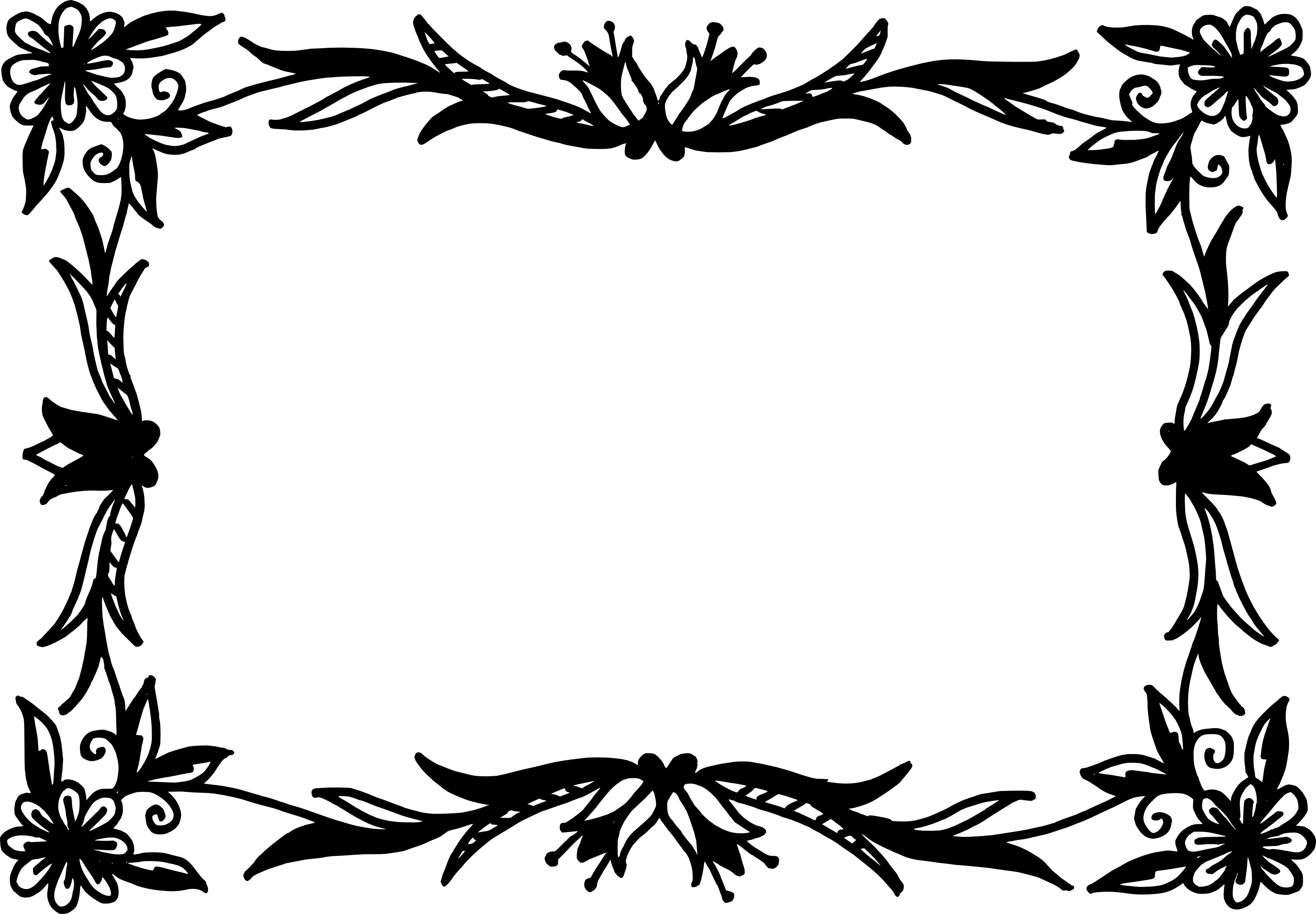 Free Download Png And Vector: 10 Rectangle Flower Frame Vector (PNG Transparent, SVG
