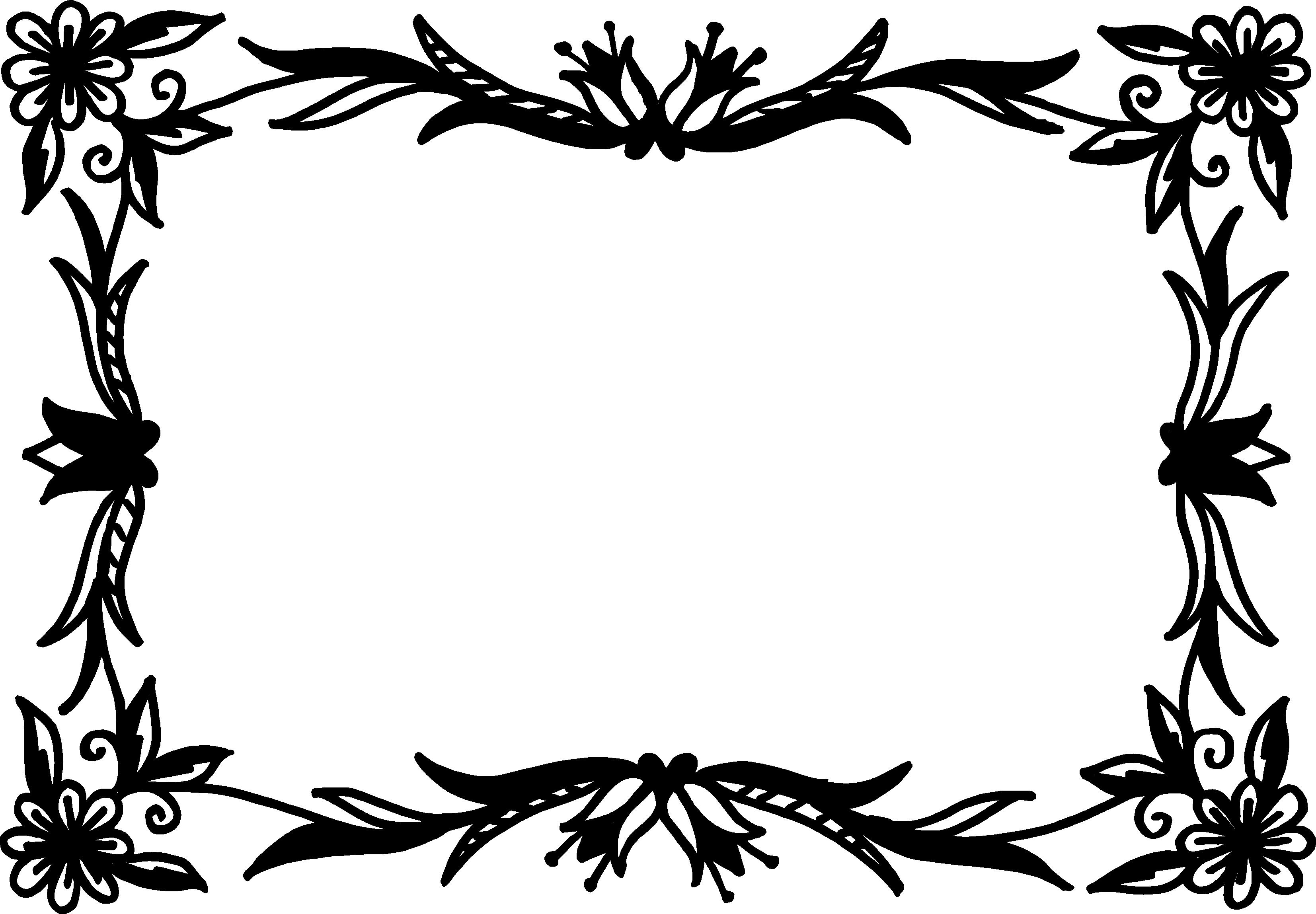 10 Rectangle Flower Frame Vector (PNG Transparent, SVG ...
