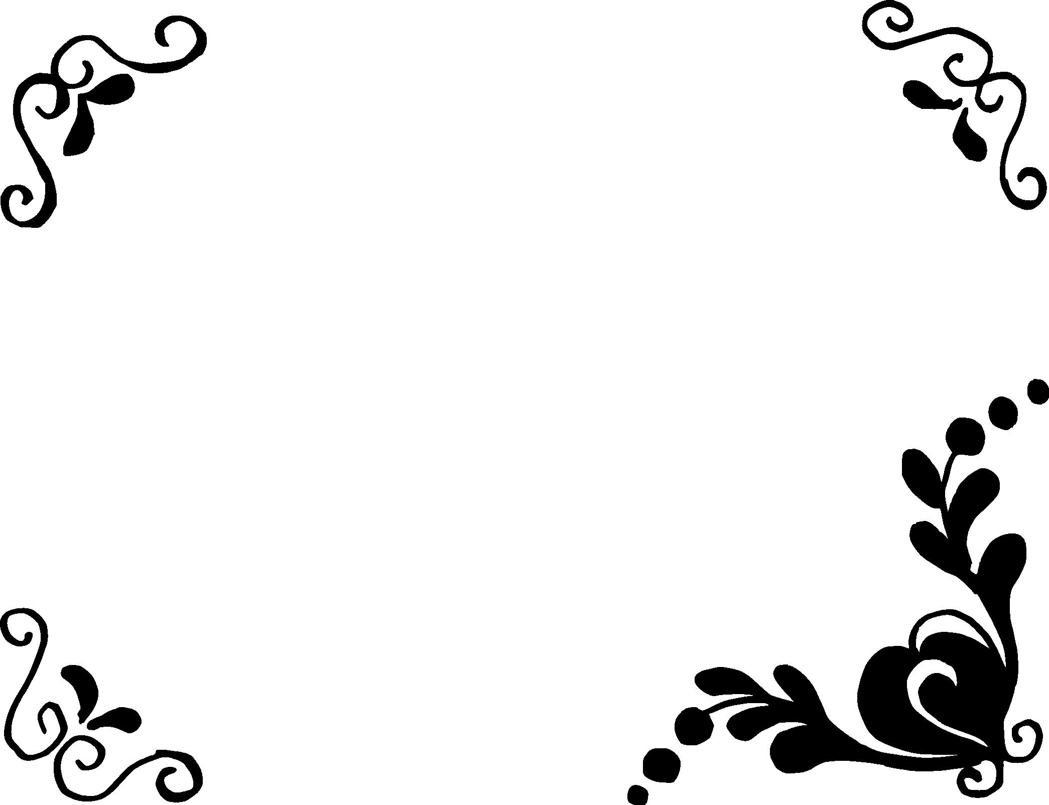 8 Simple Flower Frame Png Transparent Onlygfx Com