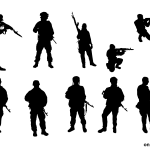 10 Soldier Silhouette (PNG Transparent)