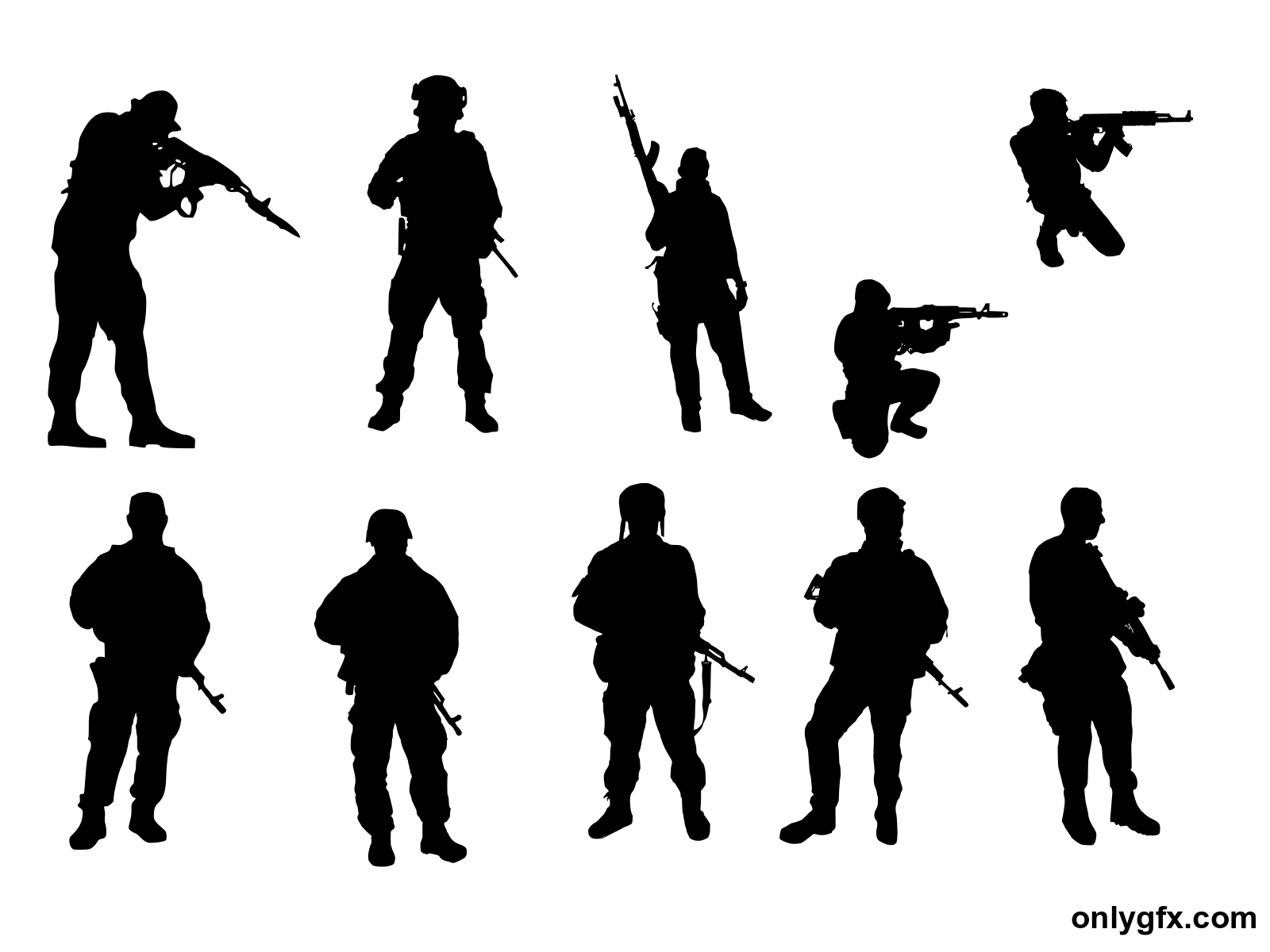 10 soldier silhouette png transparent onlygfx com