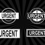 4 Urgent Stamp Vector (PNG Transparent, SVG)