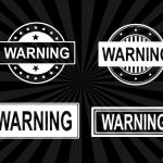 4 Warning Stamp Vector (PNG Transparent, SVG)