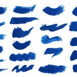 22 Blue Paint Brush Stroke (PNG Transparent)