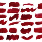 23 Dark Red Paint Brush Stroke (PNG Transparent)