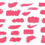 24 Pink Paint Brush Stroke (PNG Transparent)
