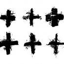 6 Grunge Plus + Sign (PNG Transparent)