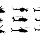 9 Helicopter Silhouette Side View (PNG Transparent)