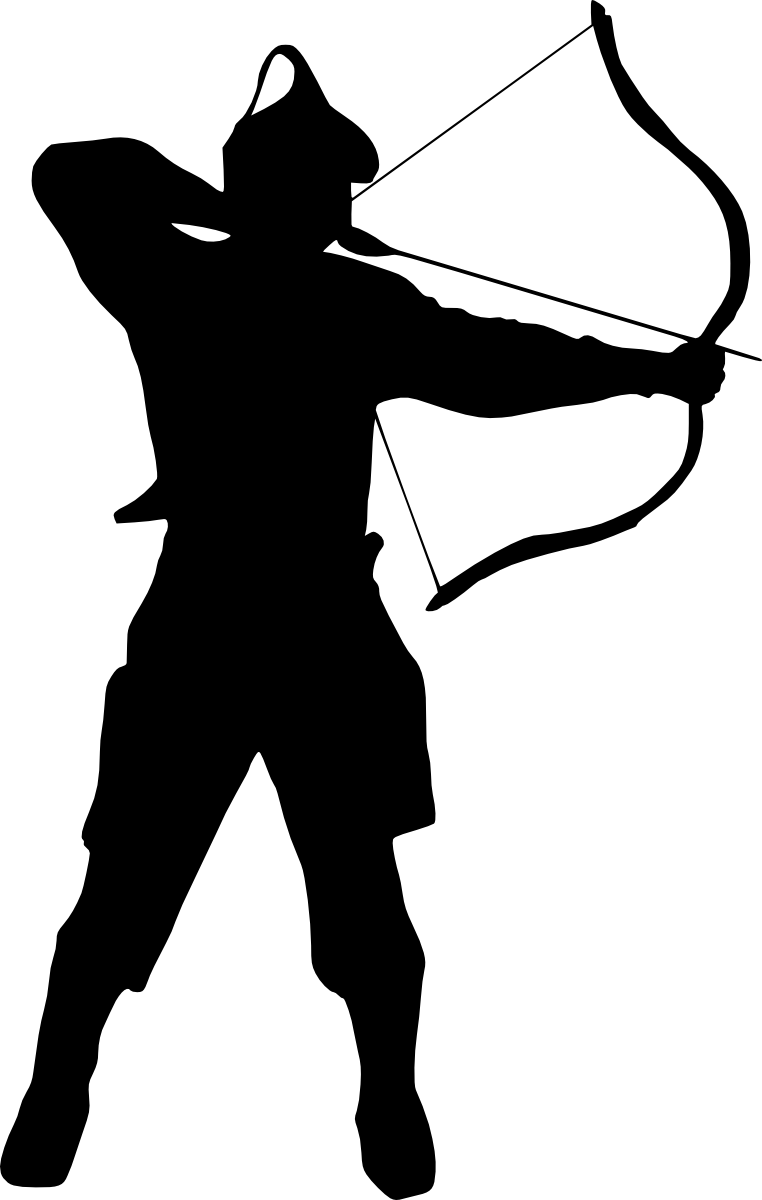 7 archer silhouette  png transparent