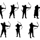 7 Archer Silhouette (PNG Transparent)