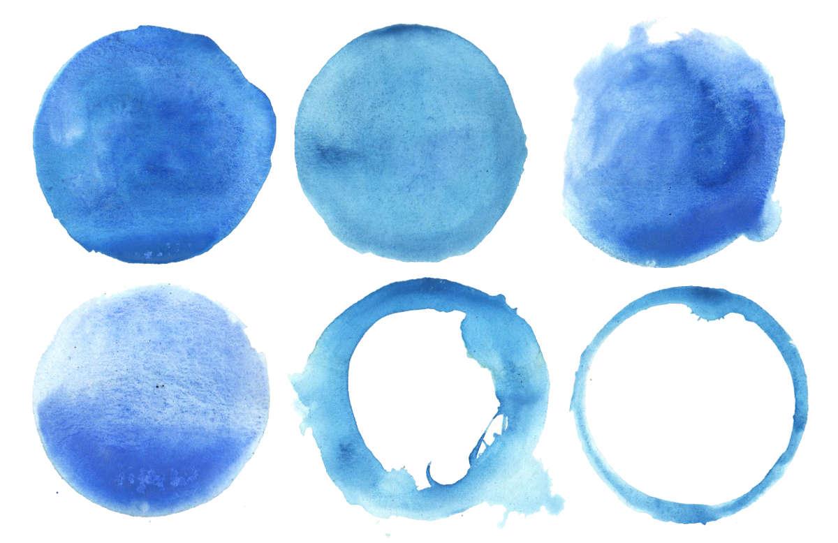 6 Blue Watercolor Circle Png Transparent Onlygfx Com