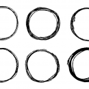 6 Circle Scribble Pencil (PNG Transparent)