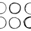 6 Circle Scribble Pencil (PNG Transparent)