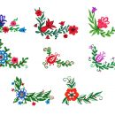 8 Colorful Flower Corner (PNG Transparent) Vol.2