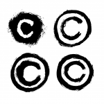 4 Grunge Copyright Symbol (PNG Transparent)