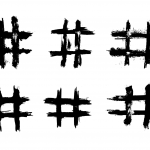 6 Grunge Hashtag (PNG Transparent)