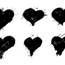 6 Grunge Heart (PNG Transparent) Vol. 2