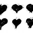 6 Grunge Heart (PNG Transparent) Vol. 2
