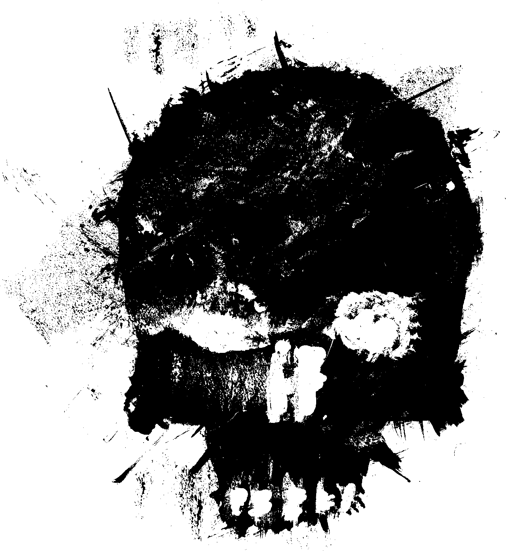 4 Grunge Skull  Png Transparent
