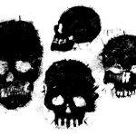 4 Grunge Skull (PNG Transparent)