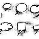 7 Grunge Speech Bubble (PNG Transparent) Vol.2
