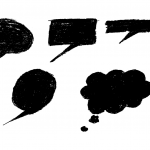 5 Grunge Speech Bubble (PNG Transparent)