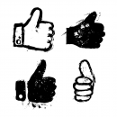 4 Grunge Thumbs Up (PNG Transparent)