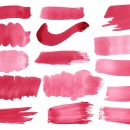 15 Maroon Purple Watercolor Brush Stroke (PNG Transparent)