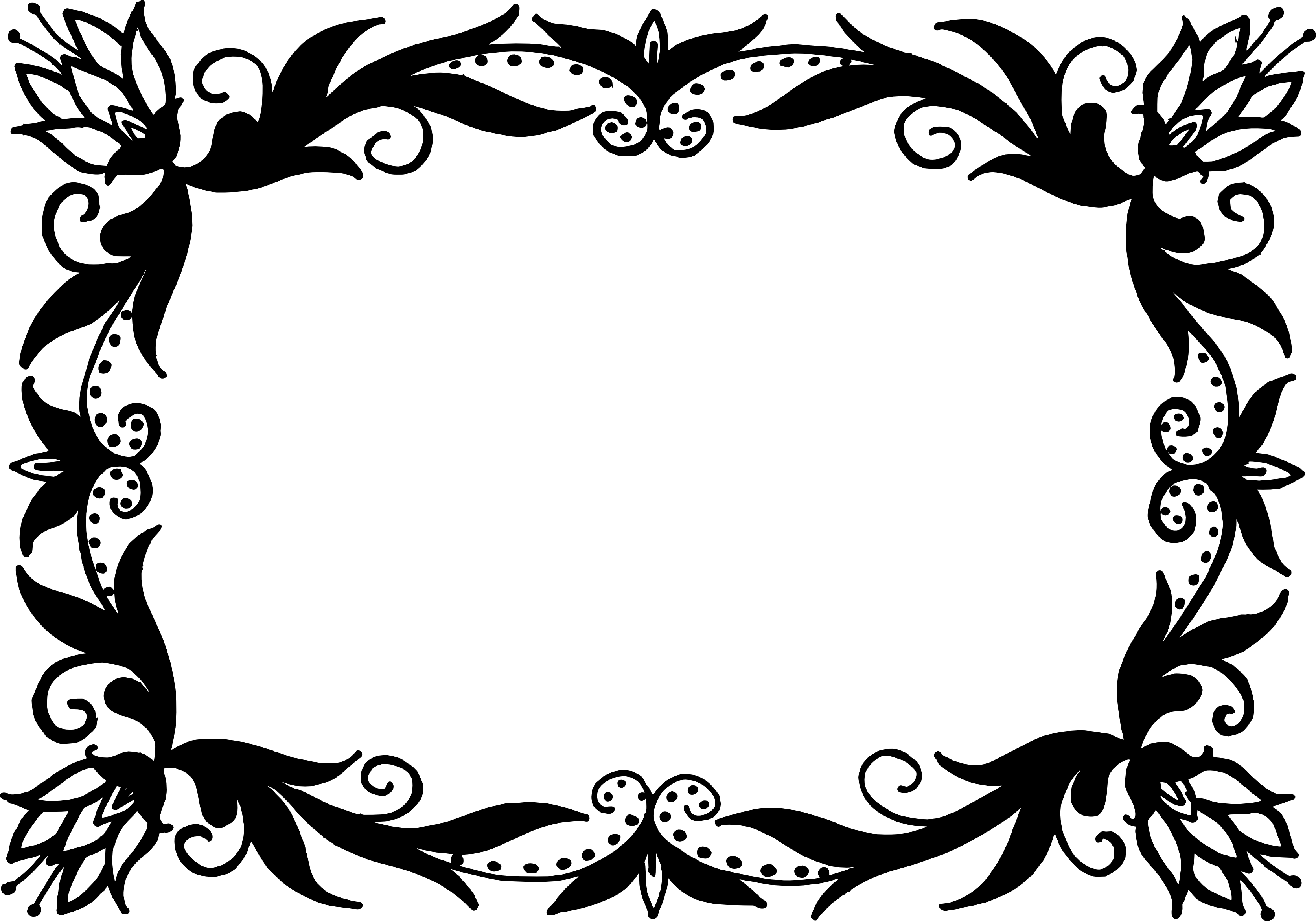9 Rectangle Flower Frame Vector (PNG Transparent, SVG) Vol